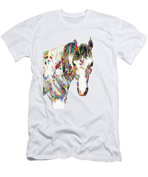 Colorful Horse Men's T-Shirt (Athletic Fit)