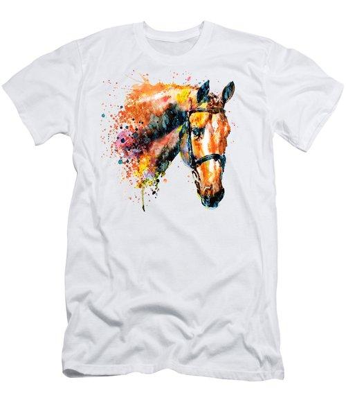 Colorful Horse Head Men's T-Shirt (Athletic Fit)
