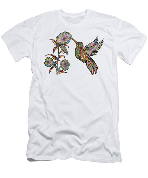 Colorful Hummingbird Men's T-Shirt (Athletic Fit)