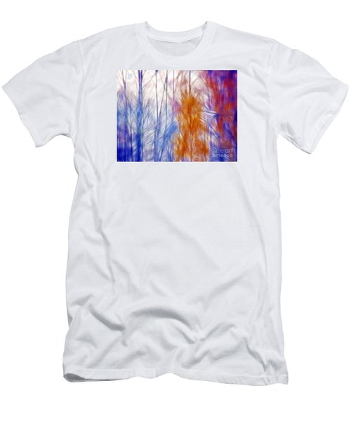 Colorful Misty Forest  Men's T-Shirt (Slim Fit) by Odon Czintos