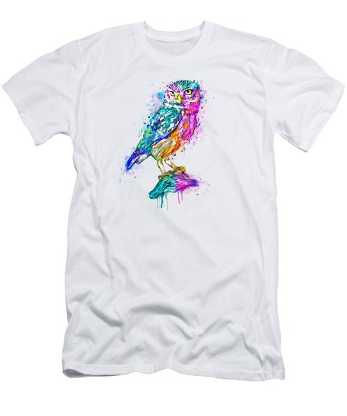 Colorful Owl Men's T-Shirt (Athletic Fit)