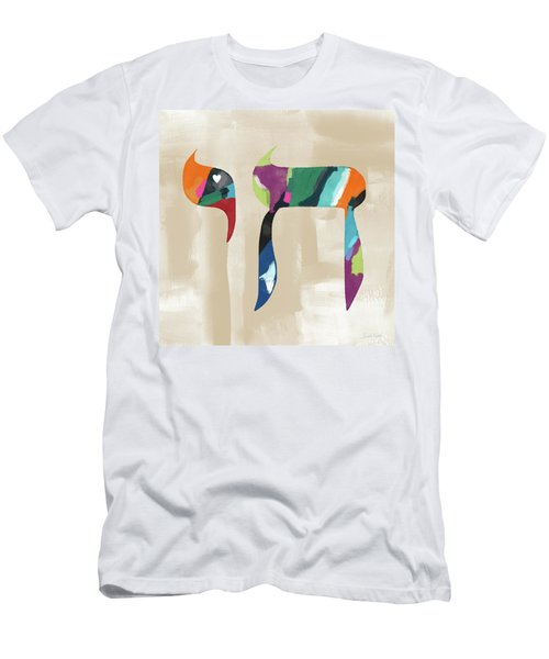 Men's T-Shirt (Athletic Fit) featuring the mixed media Colorful Painting Chai- Art By Linda Woods by Linda Woods