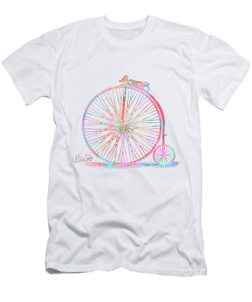 Colorful Penny-farthing 1867 High Wheeler Bicycle Men's T-Shirt (Athletic Fit)