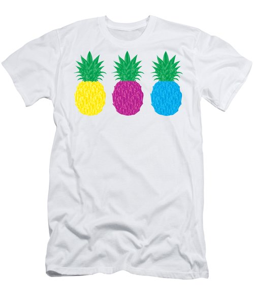 Colorful Pineapples Men's T-Shirt (Athletic Fit)