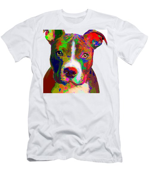 Colorful Pit Bull Terrier  Men's T-Shirt (Athletic Fit)