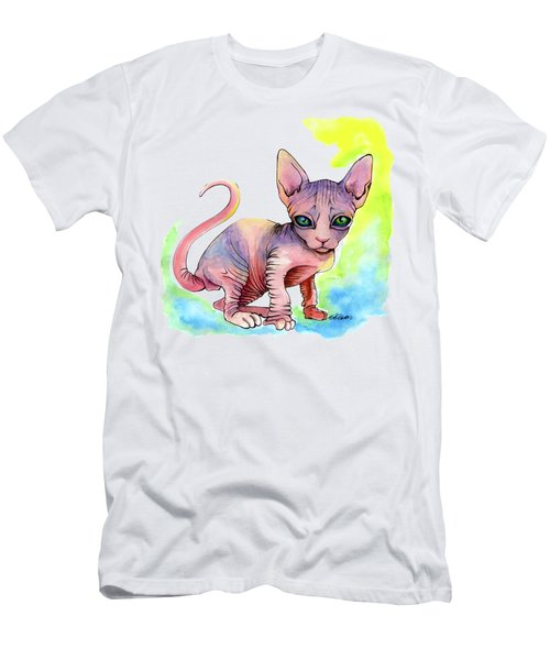 Colorful Sphynx Men's T-Shirt (Athletic Fit)