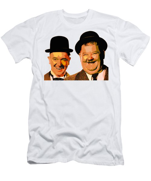 Colorful Stan And Ollie  Men's T-Shirt (Athletic Fit)