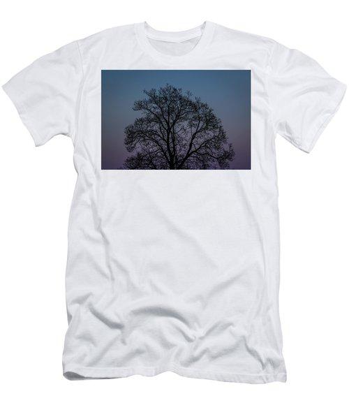 Colorful Subtle Silhouette Men's T-Shirt (Athletic Fit)
