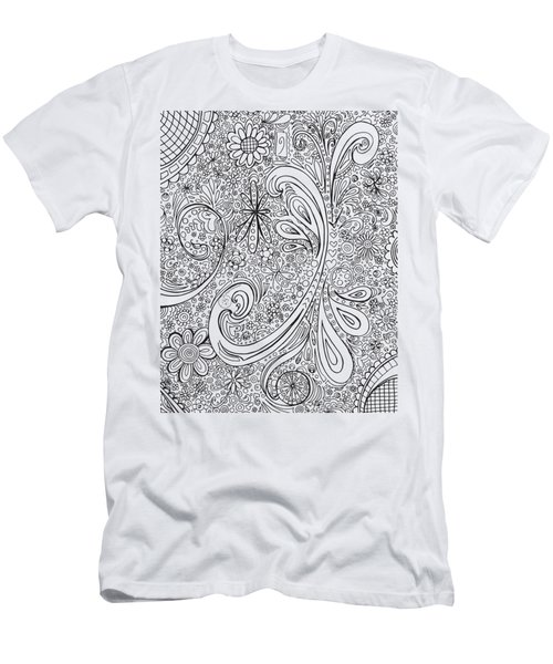 Coloring Page With Beautiful Swirls Drawing By Megan Duncanson Men's T-Shirt (Athletic Fit)