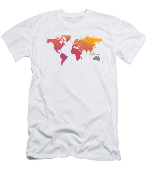 Colorist Map Of The World Men's T-Shirt (Athletic Fit)