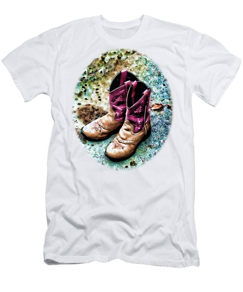 Colors Of A Cowgirl Oval White Men's T-Shirt (Athletic Fit)