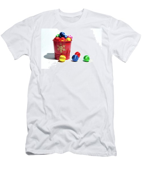 Coloured Baubles In A Pot Men's T-Shirt (Athletic Fit)