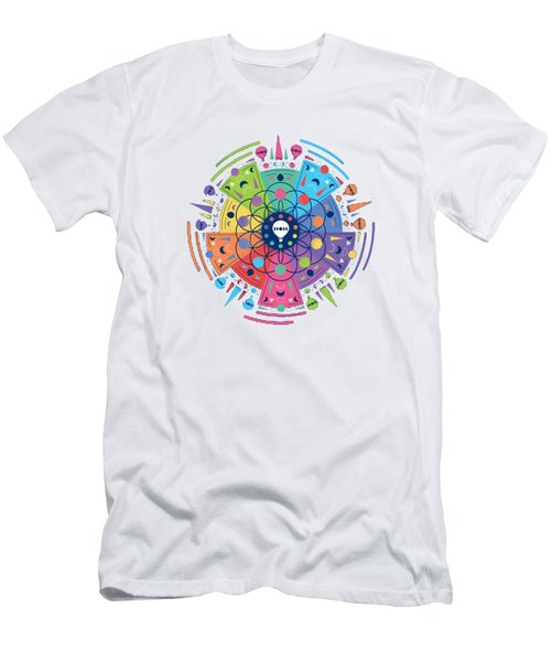 Colourful Of Stars Men's T-Shirt (Athletic Fit)
