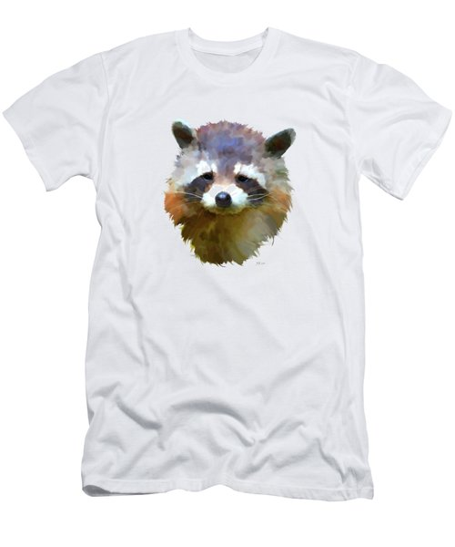 Colourful Raccoon Men's T-Shirt (Slim Fit) by Bamalam  Photography