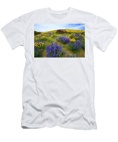 Columbia Hills Wildflowers Men's T-Shirt (Athletic Fit)