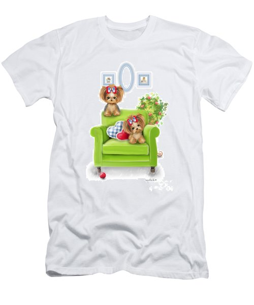 Men's T-Shirt (Athletic Fit) featuring the painting Comfy Chair by Catia Lee