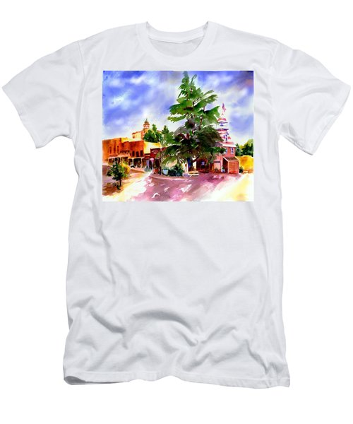 Commercial Street, Old Town Auburn Men's T-Shirt (Athletic Fit)