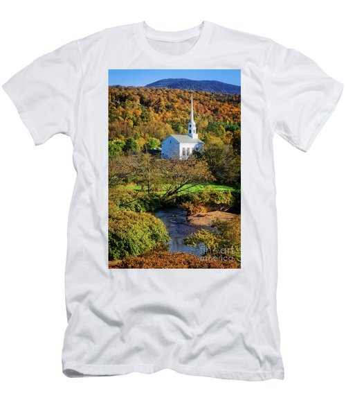 Men's T-Shirt (Athletic Fit) featuring the photograph Community Church by Scott Kemper