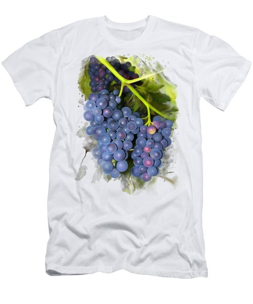 Men's T-Shirt (Athletic Fit) featuring the painting Concord Grape by Ivana Westin
