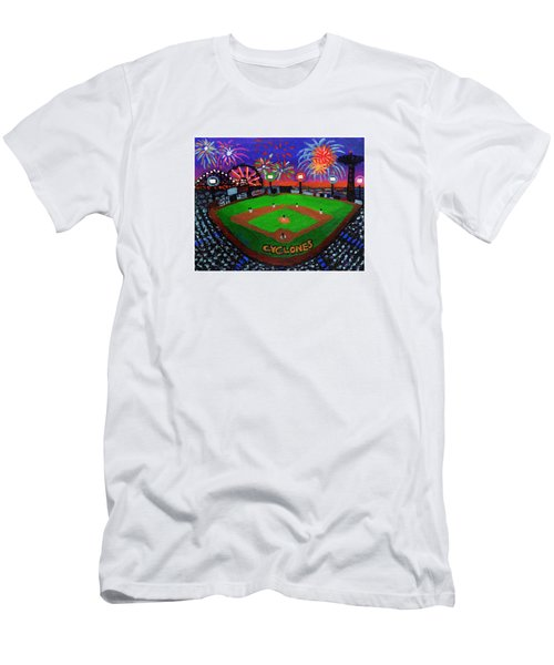 Coney Island Cyclones Fireworks Display Men's T-Shirt (Athletic Fit)