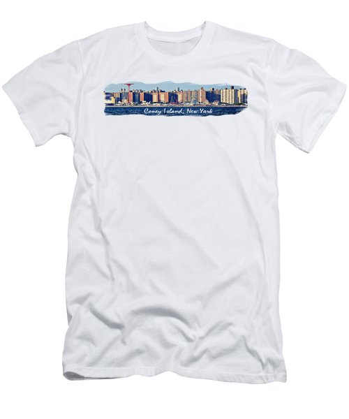 Coney Island Ny  Men's T-Shirt (Athletic Fit)