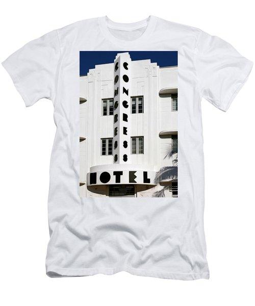 Congress Hotel. Miami. Fl. Usa Men's T-Shirt (Athletic Fit)