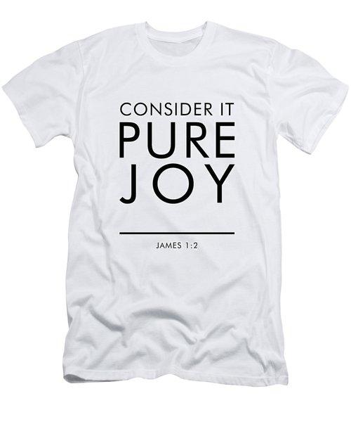 Consider It Pure Joy - James 1 2 - Bible Verses Art Men's T-Shirt (Athletic Fit)