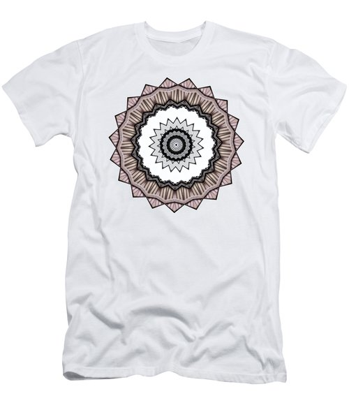 Men's T-Shirt (Slim Fit) featuring the photograph Construction Mandala By Kaye Menner by Kaye Menner