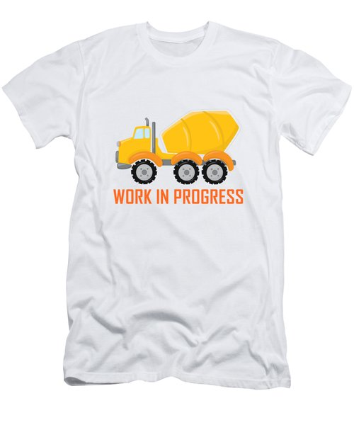 Construction Zone - Concrete Truck Work In Progress Gifts - White Background Men's T-Shirt (Athletic Fit)
