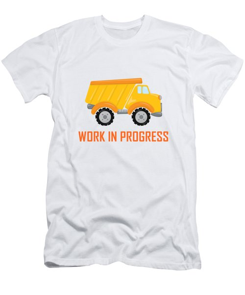 Construction Zone - Dump Truck Work In Progress Gifts - White Background Men's T-Shirt (Athletic Fit)