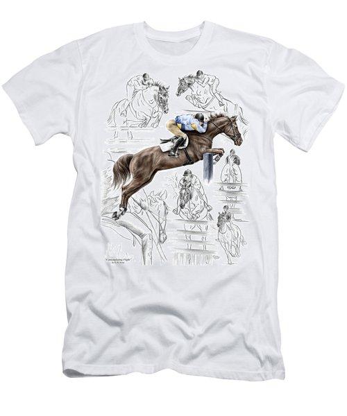 Contemplating Flight - Horse Jumper Print Color Tinted Men's T-Shirt (Athletic Fit)