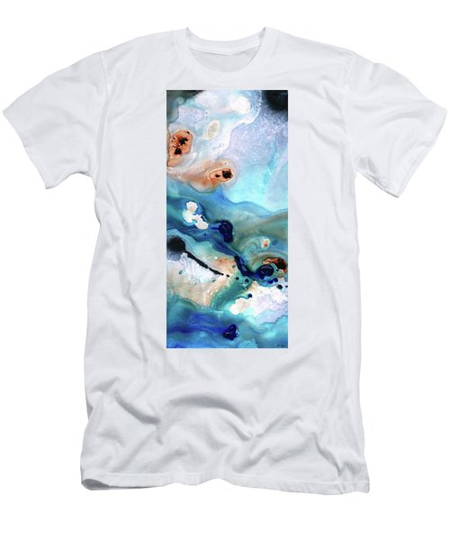 Contemporary Abstract Art - The Flood - Sharon Cummings Men's T-Shirt (Athletic Fit)