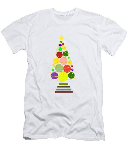 Contemporary Christmas Men's T-Shirt (Slim Fit) by Kathleen Sartoris