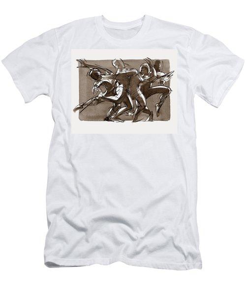 Contemporary Dance Quartet - Lucky Plush, Chicago Men's T-Shirt (Athletic Fit)