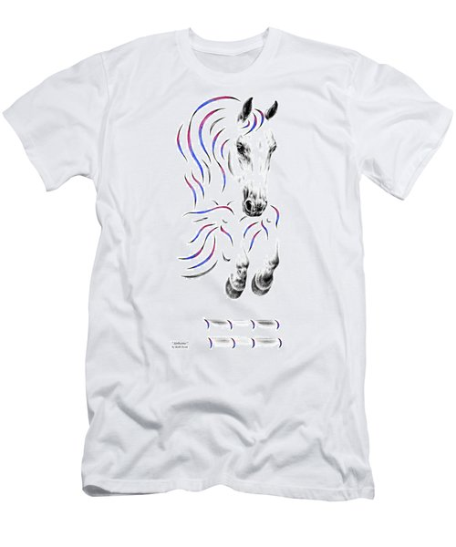 Contemporary Jumper Horse Men's T-Shirt (Athletic Fit)