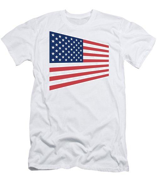 Contemporaryusa Flag Men's T-Shirt (Athletic Fit)