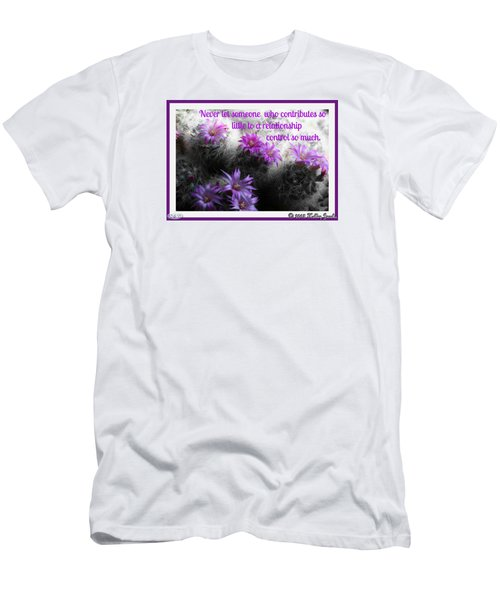 Men's T-Shirt (Slim Fit) featuring the digital art Contributes So Little by Holley Jacobs