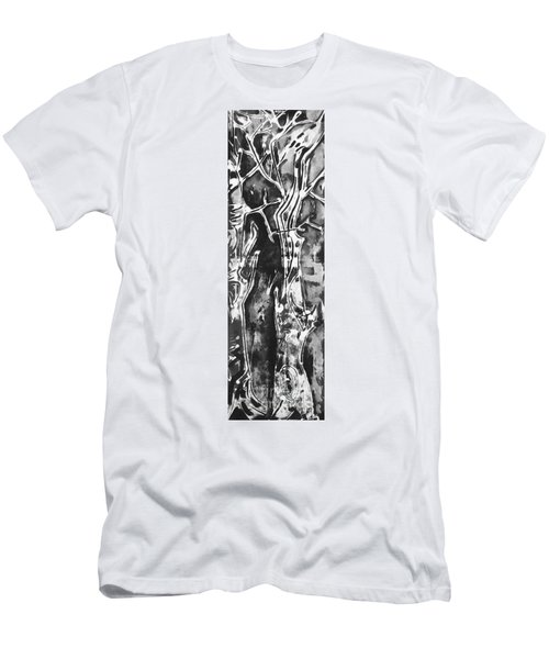 Men's T-Shirt (Slim Fit) featuring the painting Convenor by Carol Rashawnna Williams