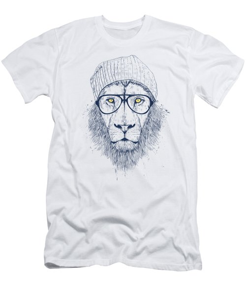 Cool Lion Men's T-Shirt (Slim Fit) by Balazs Solti