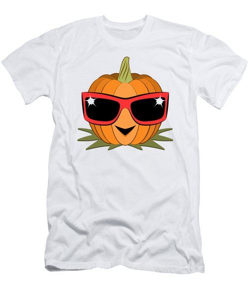 Cool Pumpkin Wearing Retro Nineties Sunglasses Men's T-Shirt (Slim Fit) by MM Anderson