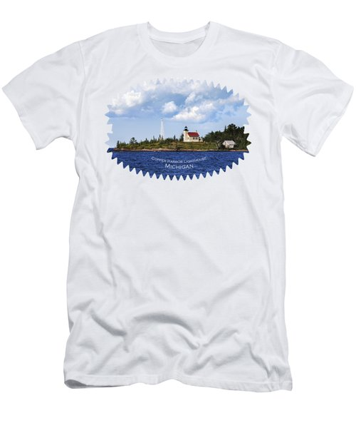 Copper Harbor Lighthouse Men's T-Shirt (Athletic Fit)