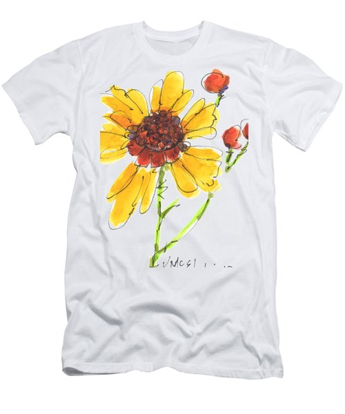 Coreopsis By Kathleen Mcelwaine Men's T-Shirt (Slim Fit) by Kathleen McElwaine