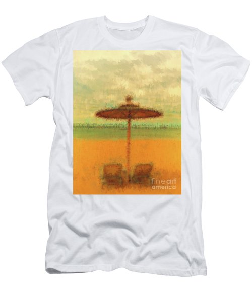 Men's T-Shirt (Athletic Fit) featuring the photograph Corfu 18 - Mirage by Leigh Kemp