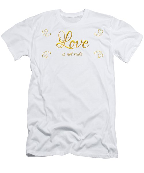Corinthians Love Is Not Rude Men's T-Shirt (Athletic Fit)