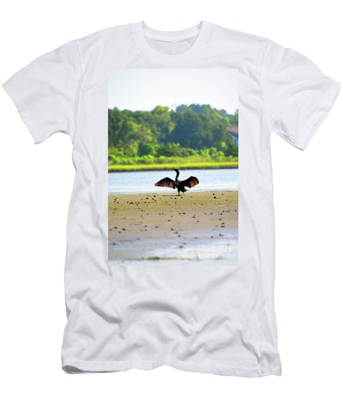 Cormorant At Topsail Beach Men's T-Shirt (Athletic Fit)