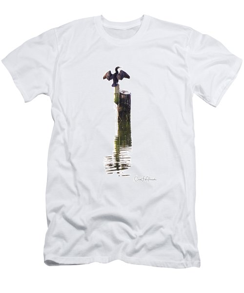 Cormorant Sunning Men's T-Shirt (Athletic Fit)
