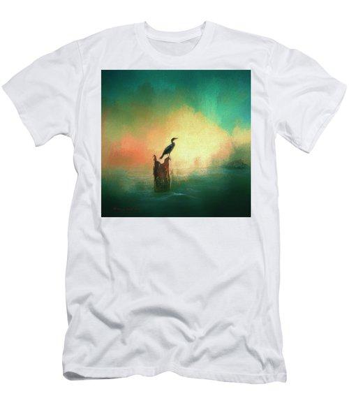 Cormorat Sunset Men's T-Shirt (Athletic Fit)
