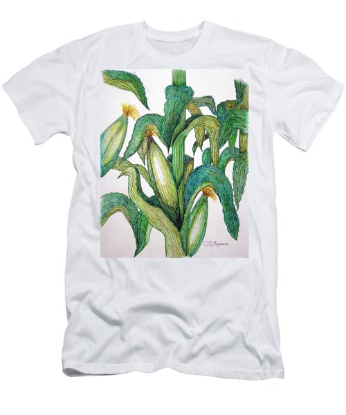 Corn And Stalk Men's T-Shirt (Slim Fit) by J R Seymour