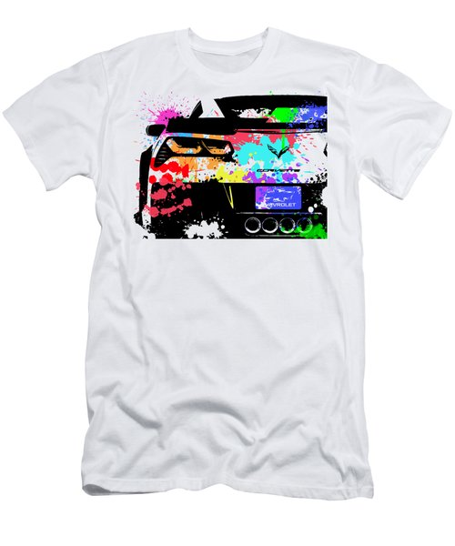 Corvette Pop Art 1 Men's T-Shirt (Athletic Fit)