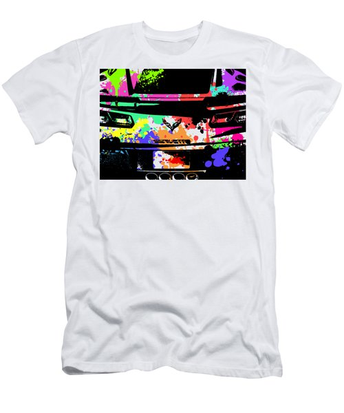 Corvette Pop Art 2 Men's T-Shirt (Athletic Fit)